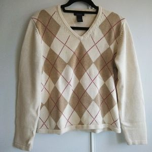 346 Brooks Brothers Supima Cotton Argyle Sweater